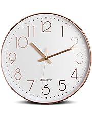 Tebery Reloj de pared silencioso decorativo grande para la decoración casera, 12 pulgadas, 30