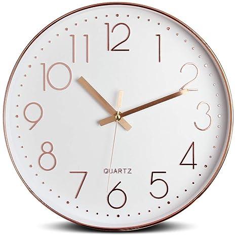 e89d5949946e Tebery Reloj de pared silencioso decorativo grande para la decoración  casera
