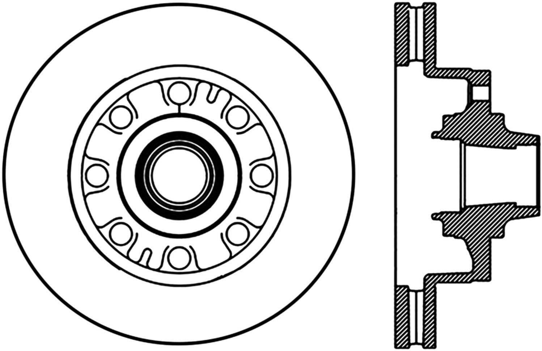Centric Parts 121.65107 C-Tek Standard Brake Rotor