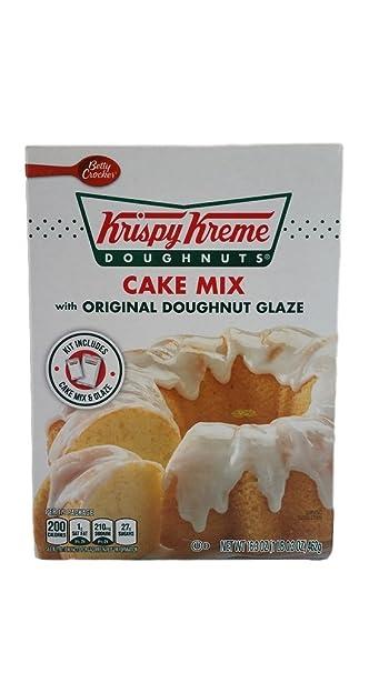 Amazoncom Krispy Kreme Doughnuts Cake Mix with Original Doughnut