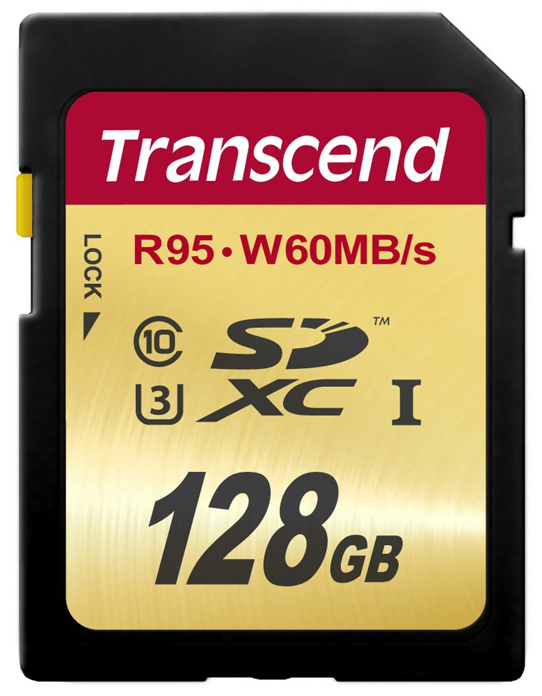 Transcend 128 GB High Speed 10 UHS-3 Flash Memory Card 95/60 MB/s (TS128GSDU3) by Transcend