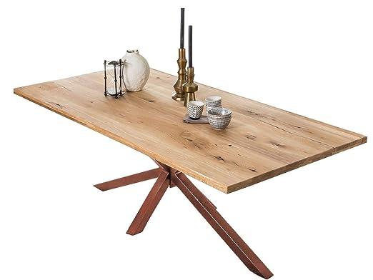 Tavolo Legno Rovere Naturale.Sit Mobel Tavolo Da 180 X 100 Cm In Legno Di Rovere Naturale