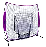 Bownet 7' x 7' Big Mouth X Deluxe Portable Hitting / Pitching Training Net (Purple)