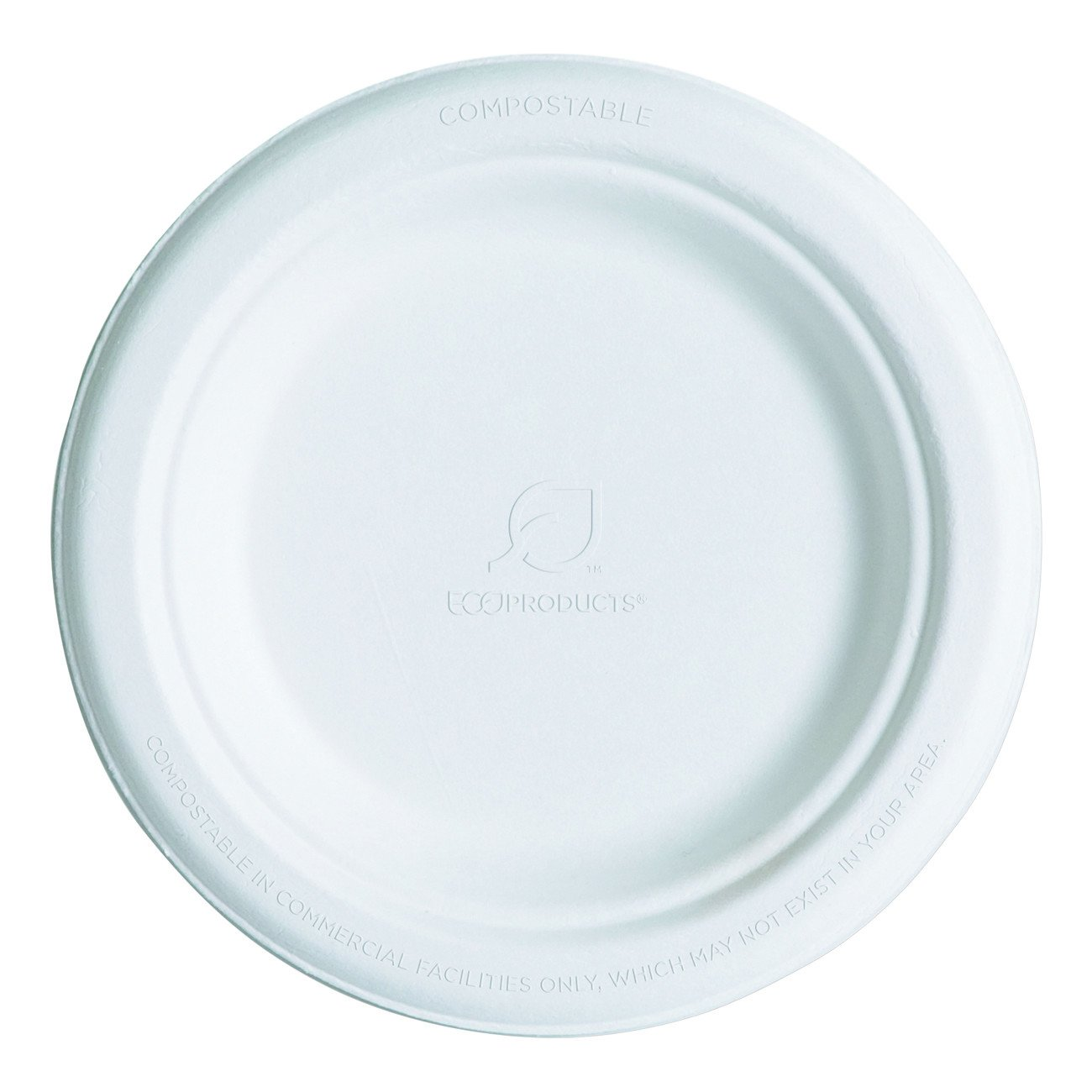 Eco-Products Sugarcane Plate 154mm 1000pcs Available throughout EU /& UK