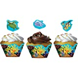 Creative Converting Ocean Party 12 Count Cupcake Wrappers with Picks