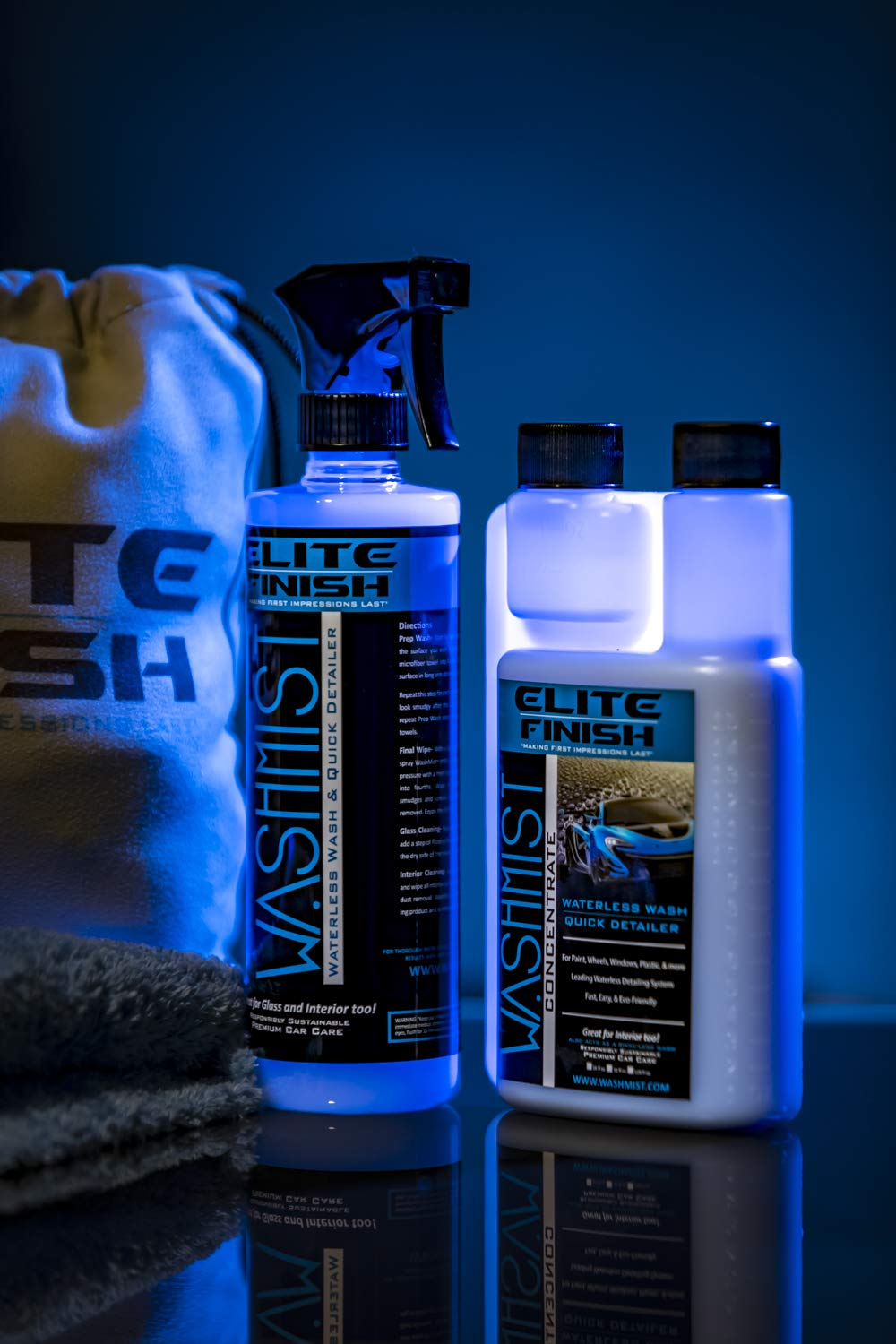WashMist Waterless Car Wash Kit - Evolutionary Hydrophobic Polymer Technology - Eco-Friendly - Fast Easy to use; Clean Shine, virtually Anywhere, Anytime! by WashMist (Image #1)