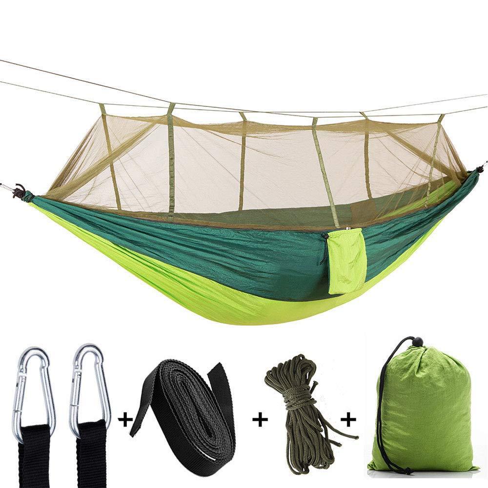 F  Camping Hamac, Lit avec Moustiquaire, Poids Léger Portatif, Convient à La Randonnée en Arbre Au Sac à Dos,D