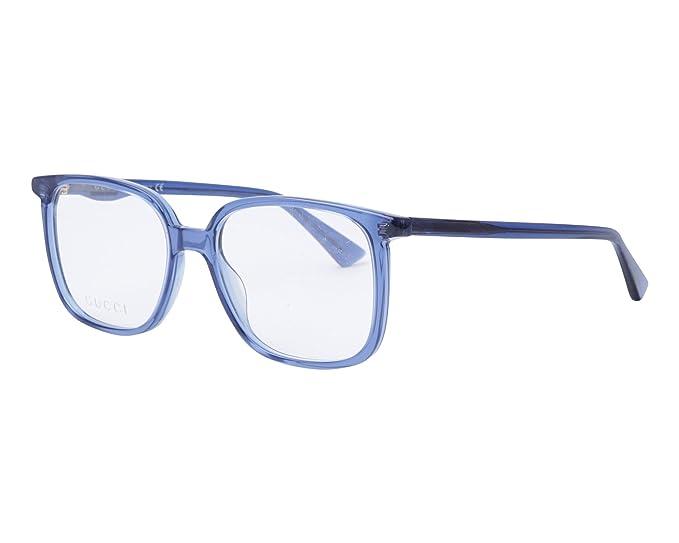 Gucci Montura de gafas - para hombre Azul azul y blanco XS: Amazon ...