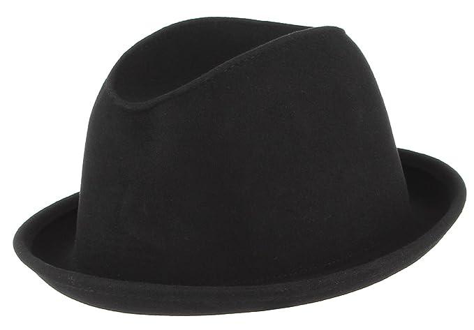 La Vogue-Classico Cappello Uomo in Lana Colore Puro Berretto a Bombetta  Rotondo Bowler Invernale Nero 59cm  Amazon.it  Abbigliamento c80312c0f2da