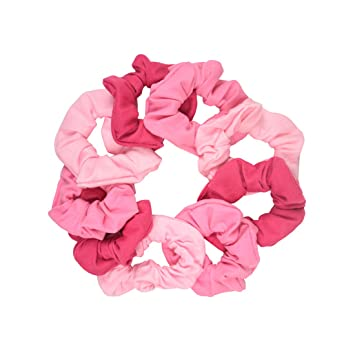 Amazon.com   9 Pack Scrunchies Hair Ties - Pinks   Beauty bdcac3eb939