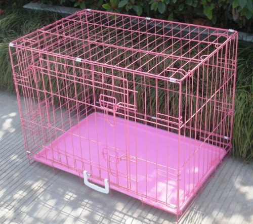 Best Pet Pink 36″ Pet Folding Dog Cat Crate Cage Kennel w/ABS Tray LC