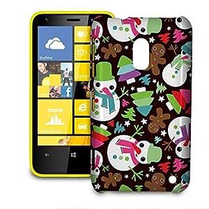 Phone Case For Nokia Lumia 620 - Happy Cute Snowman Hardshell Slim