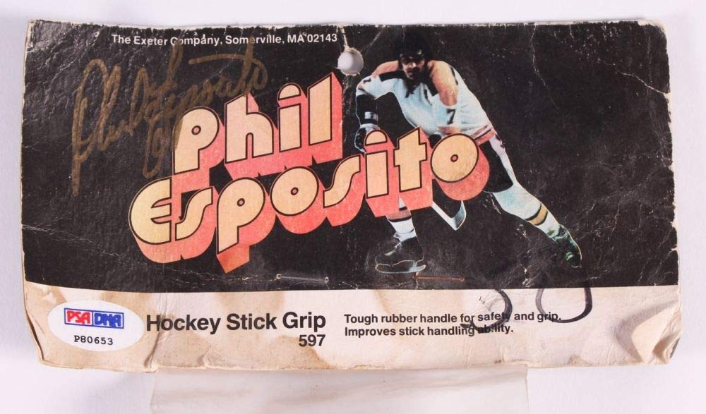 Phil Esposito Autographed Signed Hockey Stick Grip Package PSA/DNA Authentic Boston Bruins Ny Rangers