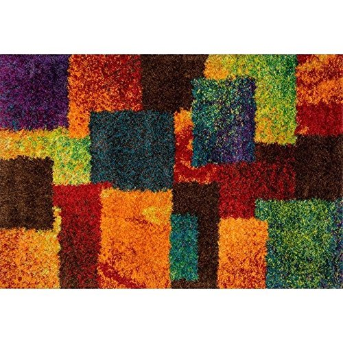 Loloi Barcelona Shag BS-05 Polypropylene And Viscose 7-Feet 7-Inch by 10-Feet 5-Inch Area Rug, Multi (Area 2010 Rug)
