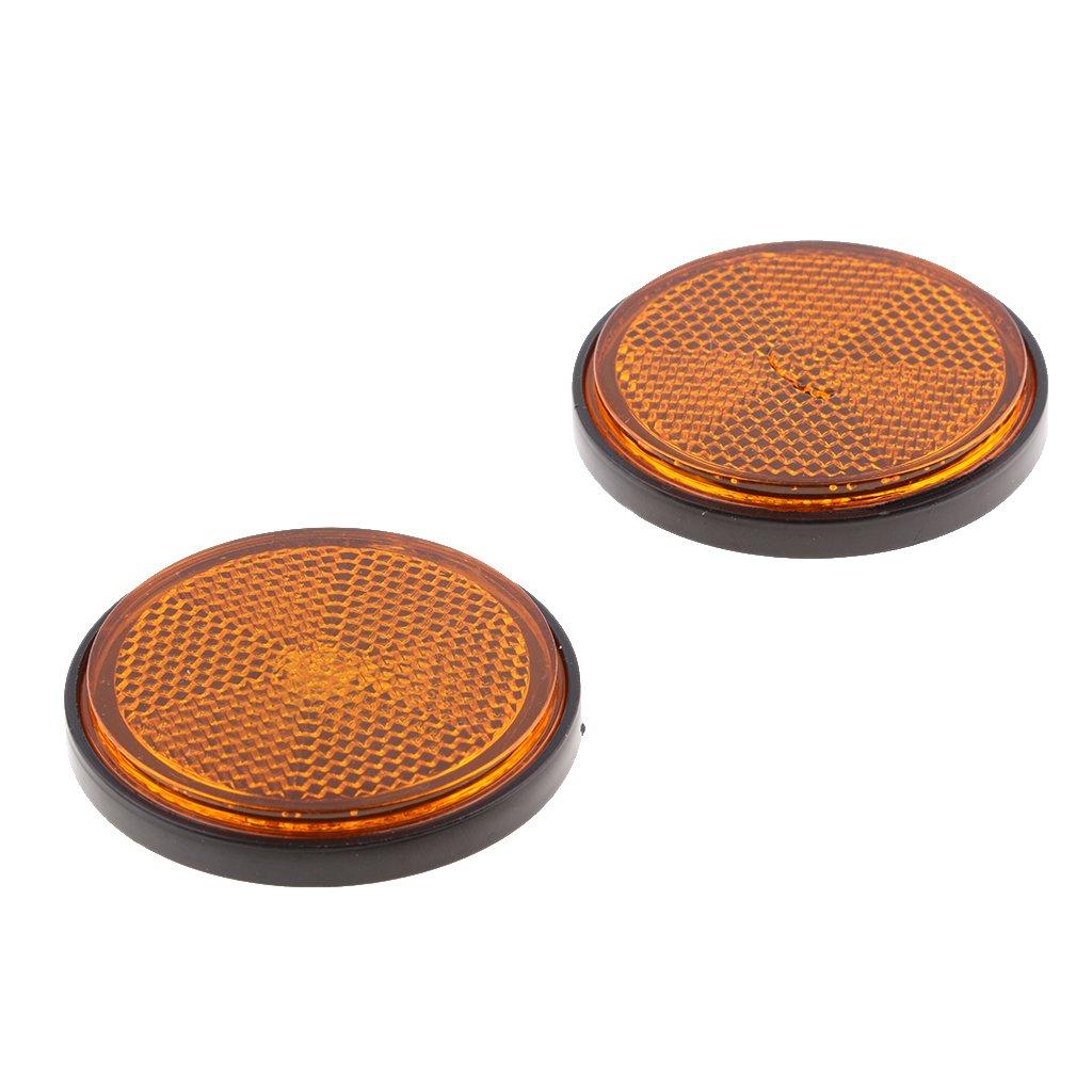 Gazechimp 8 Pack 2 inch 55mm Round Reflector for Motorcycle ATV Dirt Bikes Universal Red /& Orange