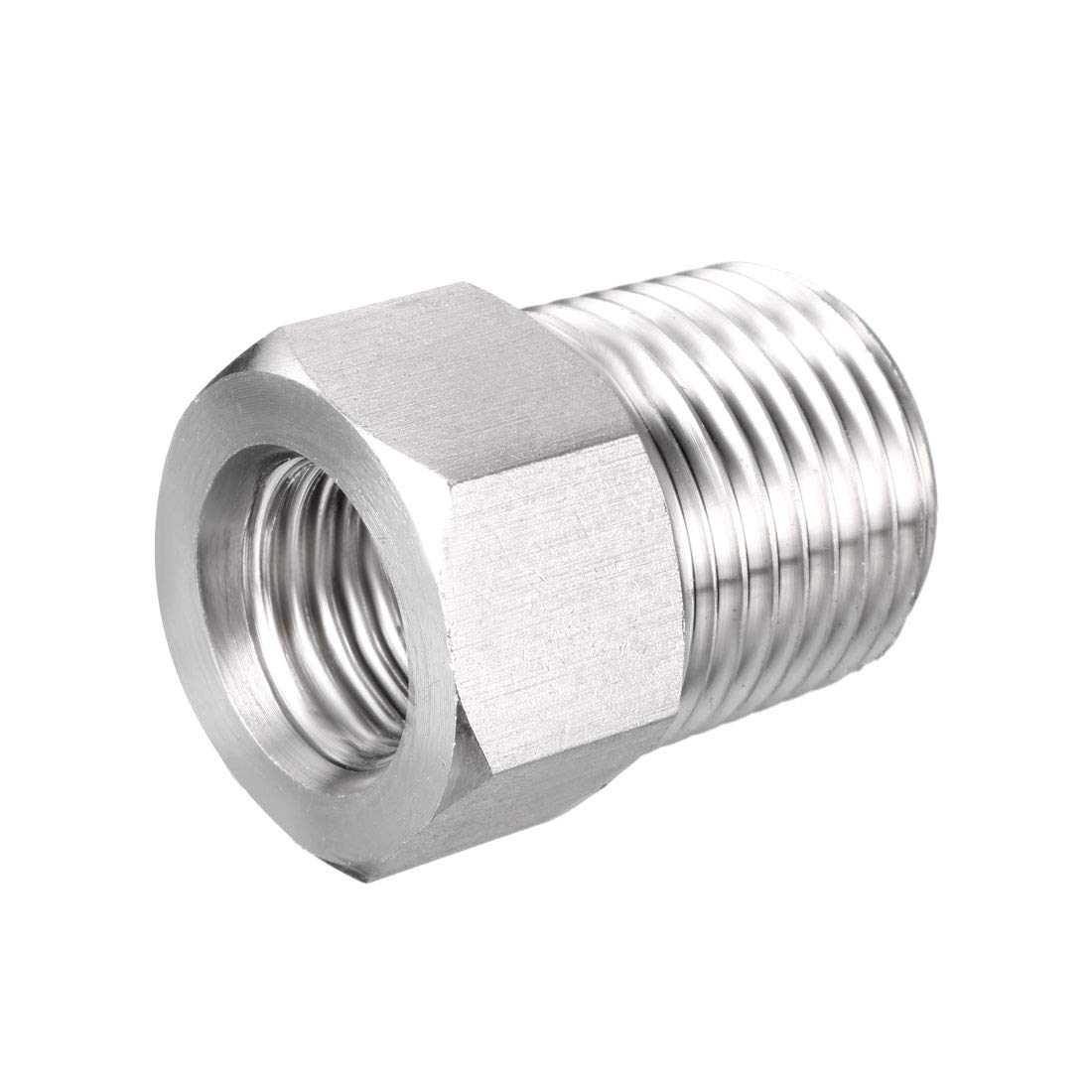 Reducer Adapter uxcell Pipe Fitting Adapter M201.5 Male Pipe x G1//4 Male Pipe