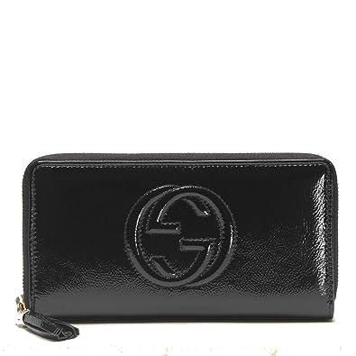 97693cda0a4 Amazon.com  Gucci  Soho  Patent Leather Zip Around Wallet 308004 ...