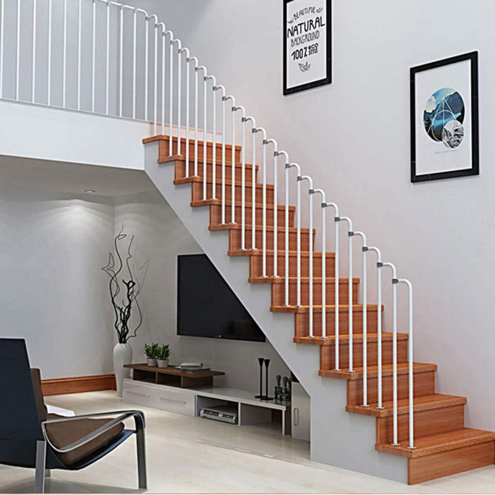 Reposabrazos-Negro/Escalera Blanca Kit de Barandilla, Baranda de Pasillo del Ático con Kit de Montaje, Adecuado para Escaleras Exteriores, Porches y Pasamanos de Escaleras de Cubierta: Amazon.es: Hogar