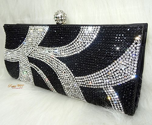 Para Small Dorado Mano Jewels Uk De Negro Mujer Prestigeapplause Cartera qBPfTXwWRW