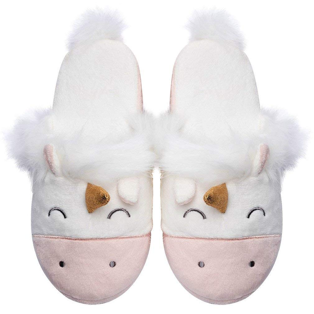 51adcc9c4 Amazon.com | Womens Unicorn Slippers |Cute Funny Slippers for Family| Kids  Girls Animal House Shoes | Slippers