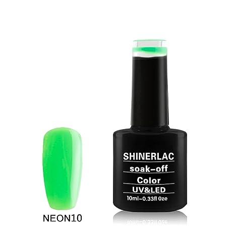 Bluesky Shinerlac Vernis à ongles gel UV/LED Printemps Couleurs Soak Off, Vert  fluo