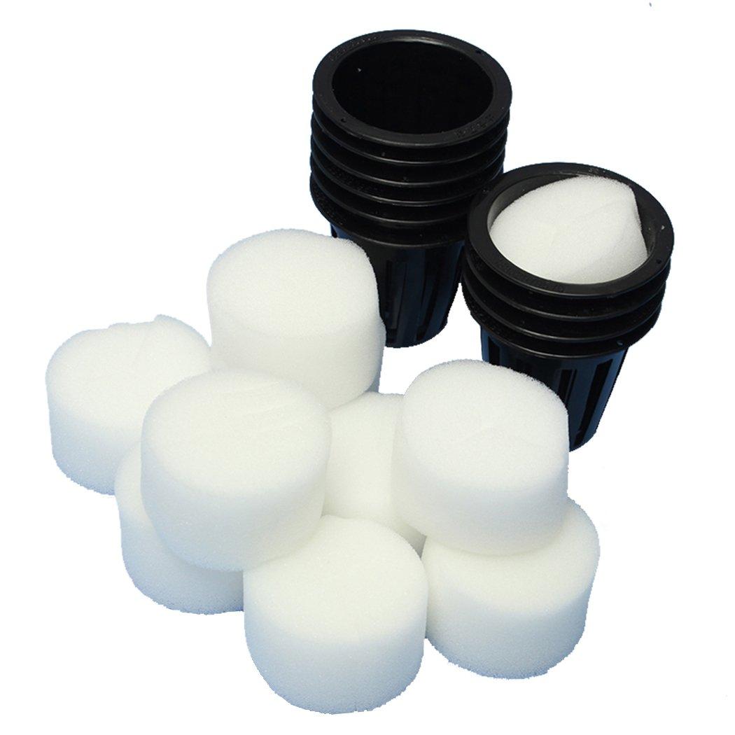 10pcs Pots de Plastique pour Plantation Hydroponique Plante Insert Mousse Set E 2Inch=48mm