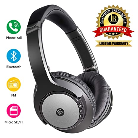Cuffie Wireless senza fili Cuffie Bluetooth Over Ear Headphones Wireless  Pieghevole Microfono Incorporato con Jack Audio 5e6047735f73