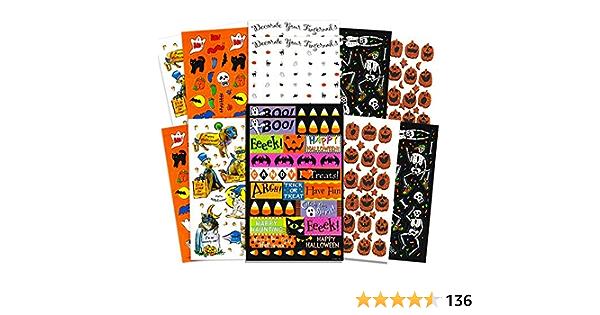 72PCS Halloween 3D Stickers Muraux Stickers 24PCS Stickers Muraux Lumineux Set Halloween Chauves-Souris Lueur dans lobscurit/é pour DIY Home Window Decor Halloween Party Supplies