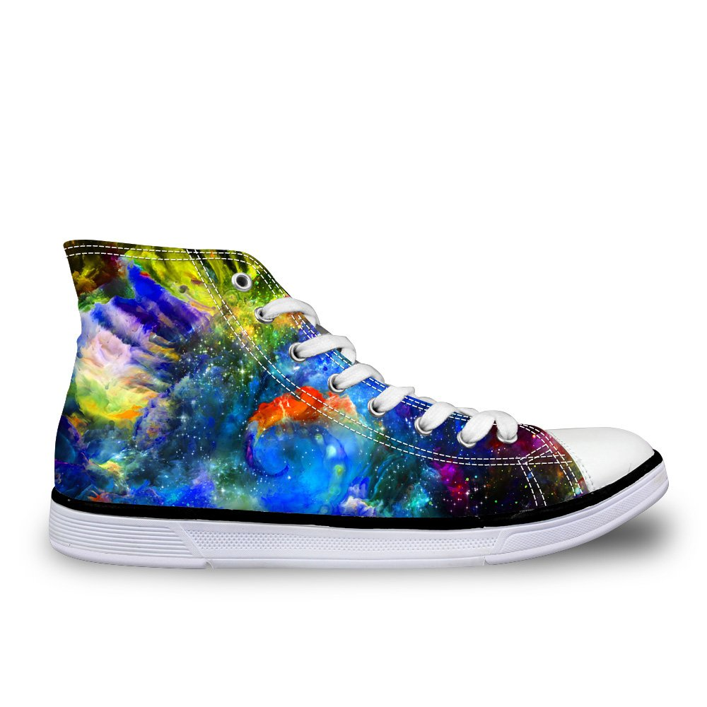 LedBack High Top Galaxy Canvas Shoes for Women Causal Sneakers Teenagers Girls Lightweight 3D Trainers B079HRYZNZ Size 10=Eur 42|Design 6