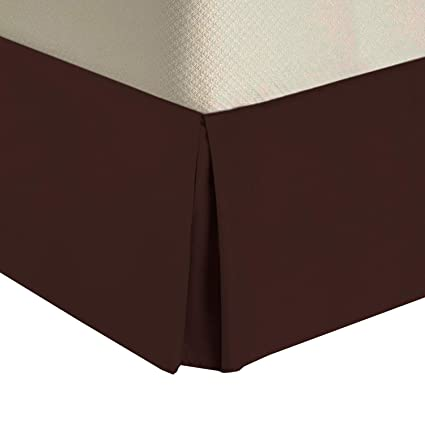 What Is A Bed Skirt.Royal Tradition Solid 300 Thread Count Pure Cotton Twin Xl Bed Skirt Chocolate Pleated Tailored Bedskirts With 15 Drop And Split Corners