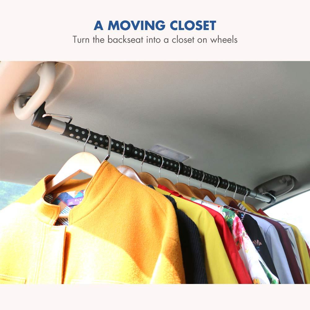 Kleiderstange ausziehbar Schrankrohr MYSBIKER Auto-Kleiderstange 88-160cm Anti-Slip-Teleskopaufh/änger mit erweiterbarer W/äschestange im Kleidungsst/ück Kleiderb/ügel-Stangen-Kleidungs-Rod