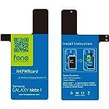 N4 PWRcard - Carte récepteur Qi pour Samsung Galaxy Note 4 IV avec bobine NFC intégrée pour Chargeur à induction (chargeur sans fil)