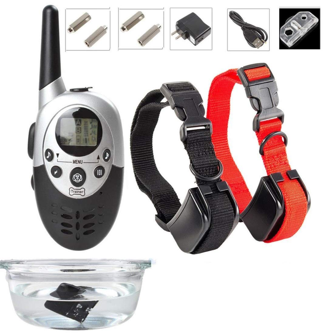 6132 Kajuer Rainproy Dog Shock Collar con Remote Dog Training Collar, Training Device Every Dog Owner (Dimensione: M86)
