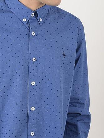 EL FLAMENCO Camisa Caballero Estampado Lunar Logo, ÚNICO, 3 para Hombre: Amazon.es: Ropa y accesorios