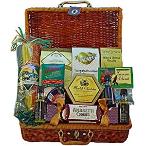 Art of Appreciation Gift Baskets That's Amore Romantic Italian Dinner For Two Picnic Hamper
