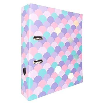 Archivador de palanca de calidad, tamaño A4, diseño de sirena, color multicolor: Amazon.es: Oficina y papelería