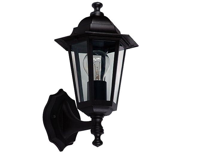 Farol Classico con filamento LED, Negro, Elegante Fachada 228815 – Lámpara Iluminación