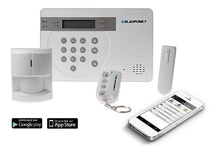 Blaupunkt SA2700 - Kit evolutivo de alarma inalámbrico GSM (central, detector de movimiento,. Pasa el ratón por ...