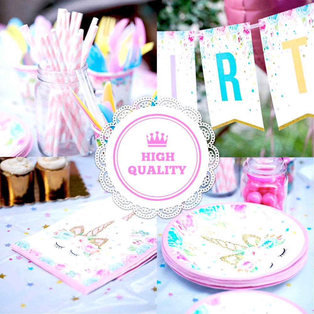 Unicorn Party Supplies set - 238 PCS - 18 Serves | Unicorn Decoration | Tableware | Favors | Balloons | Free Bonus by Nulla (Image #3)