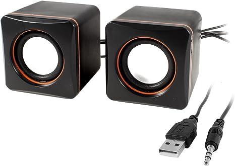 Negro Control De Volumen USB 2.0 Mesa Multimedia Caja Del Altavoz ...