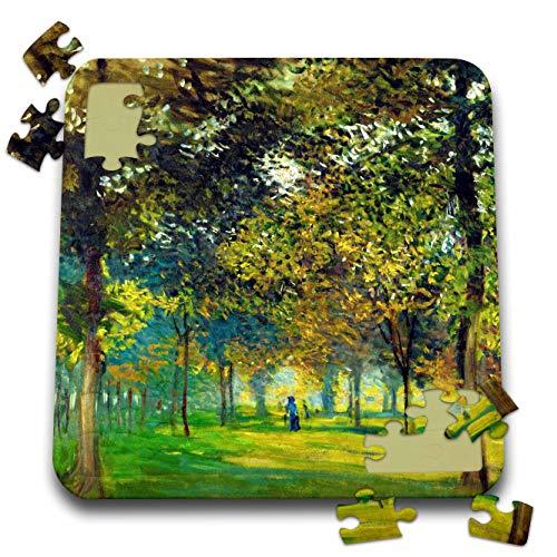 3dRose VintageChest - Masterpieces - Claude Monet - The Allee Du Champ De Foire at Argenteuil - 10x10 Inch Puzzle (pzl_303344_2)