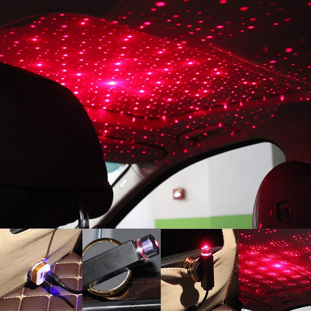 Proiettore per auto a LED per tetto notturno con luce notturna per stelle Lampada per galassia Lampada decorativa USB Effetti di luce multipli regolabili nero