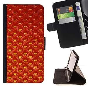 Momo Phone Case / Flip Funda de Cuero Case Cover - Papel pintado aleatorio textura naranja - Sony Xperia M2