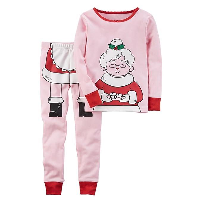 3c2db7fd33 Hzjundasi Navidad Niños Chicas Pijamas Enteros Pattern Rosado Child  Pullover Ropa de Dormir 3-8 años  Amazon.es  Ropa y accesorios