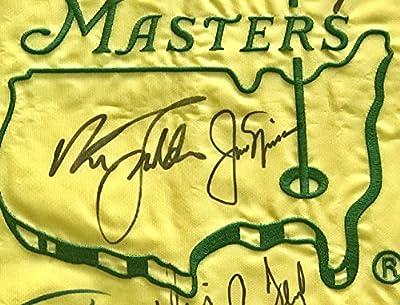 Masters golf flag signed 30 champs Jordan Spieth Jack Nicklaus Arnold Palmer augusta national beckett loa