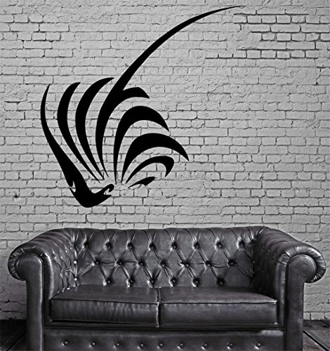 Negativ Wall Decal Sting Ray Silhouette Vinyl Removable Mural Art Decoration Stickers for Home Bedroom Nursery Living Room Kitchen