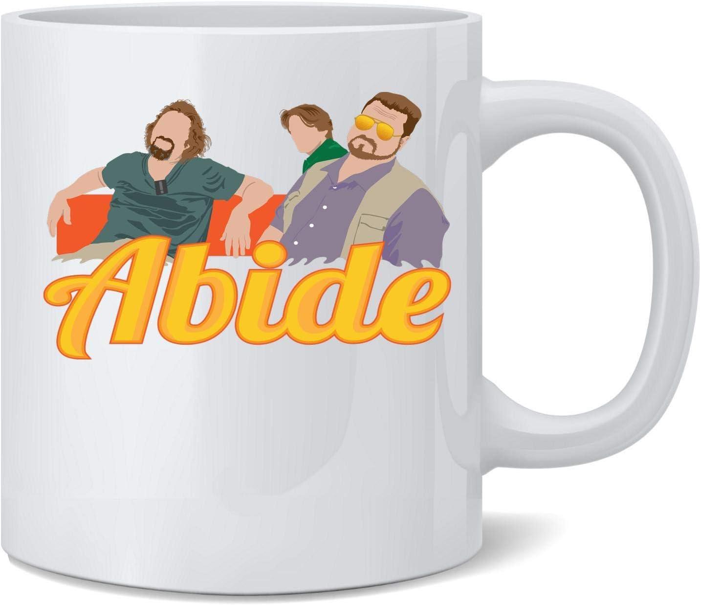 Poster Foundry The Dude Abides Minimalist Ceramic Coffee Mug Tea Cup Fun Novelty Gift 12 oz
