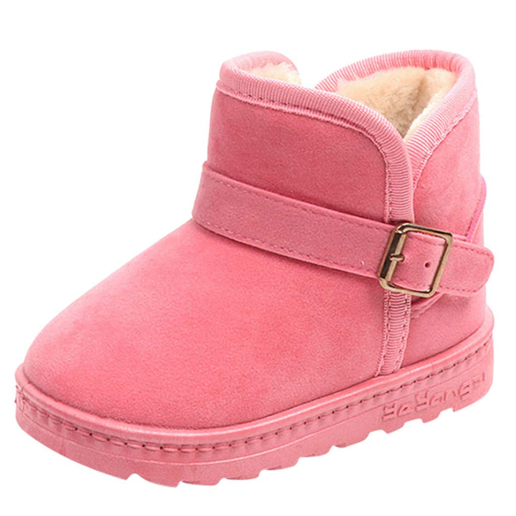 Lurryly❤2019 Snow Boots Warm Shoes Fashion Winter Flock Baby Girls Anti-Slip Casual Shoe 3-12 T