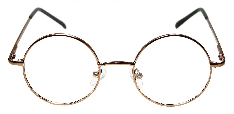Amazon.com: Metal Full Rim Round Eyeglasses Frame (Large Size ...