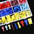 Sopoby 90pcs Nylon Fully Insulated Male Spade Terminals & Quick Splice T-Tap Electrical Wire Connector Assortment Kit